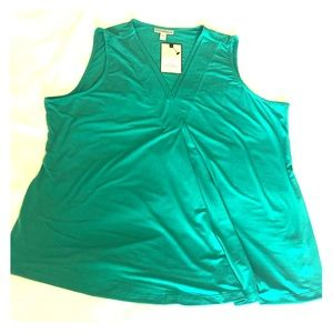 Green/teal NWT Dana Bachman tank top